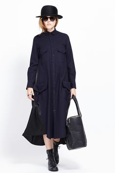 Y's by Yohji Yamamoto Four Pocket Shirt Dress