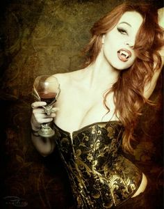 Ancient Greeks believed that redheads turn into vampires after death. Lets hope this is true. ALWAYS wanted to be a vampire lol Vampire Love, Gothic Vampire, Vampire Art, Vampire Fangs, Red Hair Vampire, Vampire Pics, Vampire Pictures, Dark Beauty, Gothic Beauty