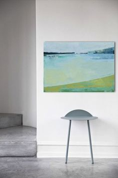 "Canvas art 39.37/27.5(100/70cm). ""Landscape 45"" (2016) Oil painting by Karina Antończak | Artfinder"