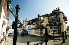 The Georgian town of Lymington in the New Forest, Hampshire, UK. The high street runs down to the harbour, such lovely times here.
