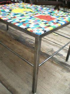 table basse ou d 39 appoint en briques lego pinteres. Black Bedroom Furniture Sets. Home Design Ideas