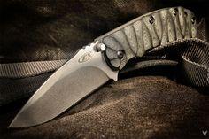 "cuscadi: "" Zero Tolarance ZT0550 ""rugged"" • custom made scales • black canvas micarta • custom grooved """