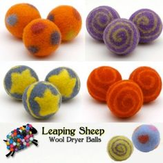 Leaping Sheep wool dryer balls $12.60 for a set of 3