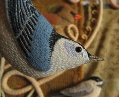 I made my week's goal of sewing 3 new birds to add to Birds of Beebe Woods! I was so determined to get them done, that I didn't pause to take photos along the way. They are all approximately life-s...