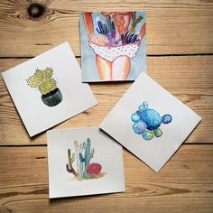 Cacti cacti everywhere ! #nopantsarethebestpants #cactus #watercolour #illustration by mosircu