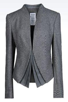 Armani Collezioni Wo  Armani Collezioni Women Dinner Jacket - JACKET IN WOOL AND CASHMERE Armani Collezioni Official Online Store
