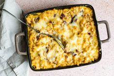 Say 'cheese!' tegen deze gezonde volkoren mac and cheese met pompoen.