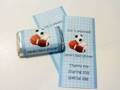 60 Sports Theme Hershey Mini Candy Wrappers by favorsfavors, $6.00