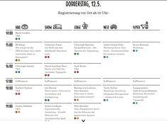 About: #typoberlin  Der TypoBerlin findet in drei Wochen statt. Das Hauptthema dieses Jahres ist Innovation. Sehr spannende Vorträge werden gehalten. Hiermit das Programm. // The TypoBerlin is in three weeks. The mean topic of this year is innovation. Really exciting conferences coming up. Here is the program. Can't wait. Conference Agenda, Schedule Design, Workshop, Change Maker, Poster Ideas, Work Inspiration, Grafik Design, Media Design, Print Design