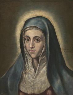 Virgin Mary / La Vierge Marie // 1595-1600 // El Greco // Museo Nacional del Prado, Madrid // #Benedicta #woman #mother