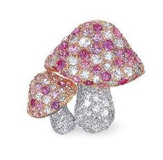 A PINK SAPPHIRE AND DIAMOND BROOCH, BY TIFFANY  CO.