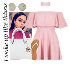 """Follow @nycole120236609"" by sammy-pinckney ❤ liked on Polyvore featuring Boohoo, Michael Kors, Charlotte Russe and Forever 21"