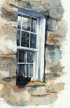 Lovely water color by Cathy Johnson