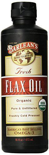 "Flaxseed oil is nature's richest source of vegetable-based vital Omega-3 fatty acids. Barlean's 100% Organic Flax Oil is known as the ""world's freshest"" because, just like all the fine family of Barlean's products, it is cold pressed daily, made to order for your health food store, air-delivered ... more details at http://supplements.occupationalhealthandsafetyprofessionals.com/herbal-supplements/flaxseed/product-review-for-barleans-organic-oils-fresh-flax-oil-16-"