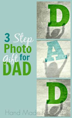 Last Minute Father's Day Photo Gift - Hand Made Kids Art