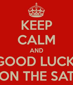 Good luck to the Brock family and all the students taking their SATs ...