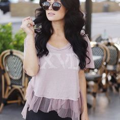 #Repost @darlingbedaring  You know we're big fans of tulle around here! A comfy t-shirt with a flirty tulle hem.      #blouse #pink #dressup #dresstoimpress #dressedup #womensfashion #fashion #fashionblog #fashionista #fashionstyle #fashiongram #fashionstylist #fashionblogger #style #styleblogger #stylegram #instawear #styleinspiration #houston #houstonfashion #boutique #shopsmall #boutiqueshopping #pippaandpearl #love #instagood #beautiful