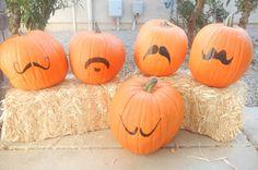Pumpkin Mustache Vinyl  Jackolantern Mustache.  Turn your pumpkin patch into a pumpkin stache!