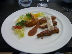 An entrée at the Paul Bocuse Institute in Lyon France (image only)