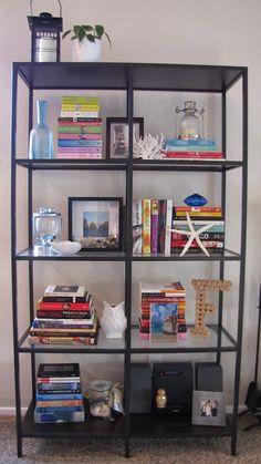Living Room Update: My New Ikea Vittsjo Shelf Living Room Update, Home Living Room, Living Room Furniture, Bookshelf Styling, Bookshelves, Ikea Vittsjo, Home Office Design, My New Room, Interior Decorating