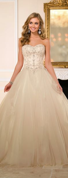 Stella York Fall 2015 Bridal Collection - Belle The Magazine 2015 Wedding Dresses, Wedding Attire, Bridal Dresses, Wedding Gowns, Bridesmaid Dresses, Lace Wedding, Sweetheart Wedding Dress, Gorgeous Wedding Dress, Beautiful Dresses