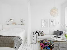 White studio apartment