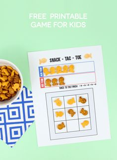 Keep the kids busy with this fun Goldfish cracker printable Snack-Tac-Toe game. Challenge each other to see who wins for a family game night or set-up an activity station to entertain the kids at your next bbq!