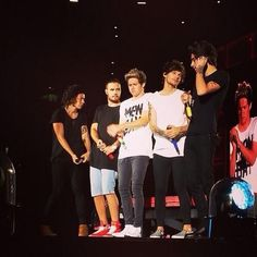The boys on stage in Foxborough, Massachusetts (Night 3) 8.9.14
