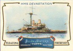 2011 Topps Allen & Ginter - Floating Fortresses #FF18 HMS Devastation Front