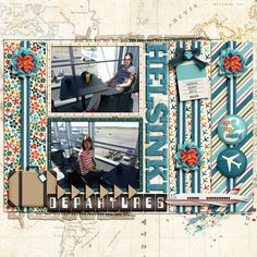 Digital layout using By Air by Amber Shaw and Kristin Aagard at Sweet Shoppe Designs