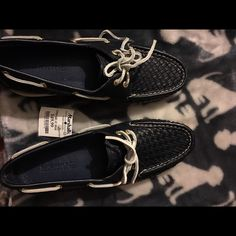 Sperry Navy Basket Weave Top Sider NWT These are brand new from Marshalls with $49.99 tag Sperry Top-Sider Shoes Flats & Loafers