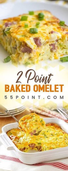 Baked Omelet (Weight Watchers) #casserole #recipe #weight_watchers #freestyle_points #foodrecipe #lowcarb #slimmingworld