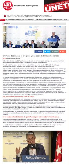 Un Pacto Social para el progreso y una sociedad más cohesionada http://goo.gl/qhEvwG #FórumEuropa