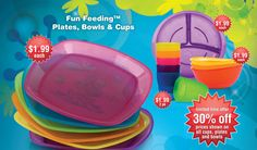 BuyBabyDirect.com is currently offering 30% off on Nuby's Fun Feeding Plates, Bowls and Cups.    #Nuby