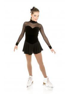 Elite Xpression Ready to Ship Skating Dress - Black For Figure S Ice Dance Dresses, Diy Shorts, Black Figure, Figure Skating Dresses, Best Black, Layered Skirt, Sleeve Styles, Skate, Ballet Skirt