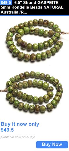 Women Jewelry: 6.5 Strand Gaspeite 5Mm Rondelle Beads Natural Australia /R2 BUY IT NOW ONLY: $49.5