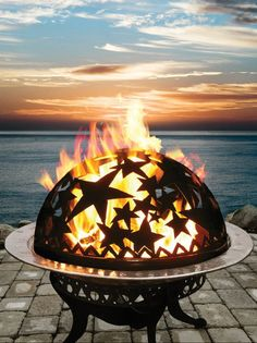 Starry night fire basket + dome // just... wow! Want this fire pit in my backyard! #product_design