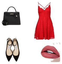:) by daillawanessa on Polyvore featuring moda, New Look, Jimmy Choo and Hermès