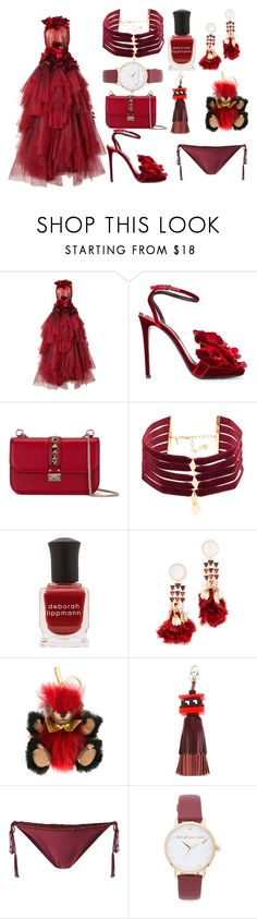"""Wedding special"" by gadinarmada-1 ❤ liked on Polyvore featuring Marchesa, Ermanno Scervino, Valentino, Vanessa Mooney, Deborah Lippmann, Tory Burch, Burberry, Anya Hindmarch, ViX and Kate Spade"