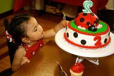 Cake at a Ladybug Party #ladybugparty #cake