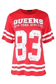 Fashion Star Womens Ladies QUEENS 83 Stripes USA Varsity Baseball Oversize Baggy T Shirt Top No description (Barcode EAN = 5054820047337). http://www.comparestoreprices.co.uk/january-2017-2/fashion-star-womens-ladies-queens-83-stripes-usa-varsity-baseball-oversize-baggy-t-shirt-top.asp