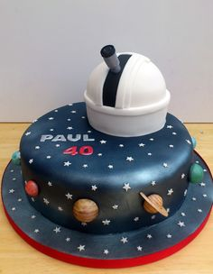 Themed Cakes Astronomy Themed Novelty Cake with Observatory « Susie's Cakes (Galaxy Food Wedding Cakes)