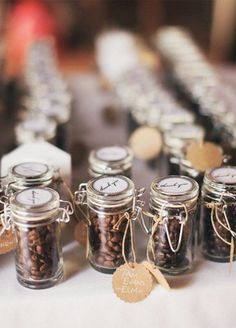 After a long day of celebrating, your guests may need a bit of a pick me up. Send them home with a mug of chocolate covered coffee beans or a jar of espresso beans to enjoy later that night or the next morning.