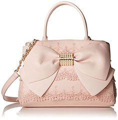Betsey Johnson Pearl of a Girl Lace Bow Satchel Betsy Johnson Purses, Betsey Johnson Handbags, Blue Jean Purses, Kawaii Bags, Bow Purse, Luxury Purses, Lace Bows, Girls Bags, Purses And Handbags