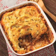 Southwestern Shepherd's Pie - fresh potatoes could be subbed