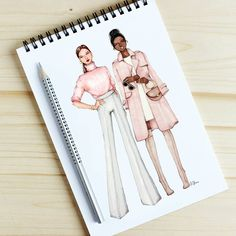 Fashion Illustration Design Style of Brush by Gizem Kazancıgil Fashion Design Sketchbook, Fashion Design Portfolio, Fashion Illustration Sketches, Illustration Mode, Fashion Design Drawings, Fashion Sketches, Fashion Design Illustrations, Illustration Meaning, Dress Sketches