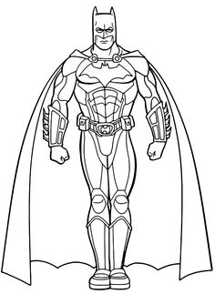 Looking for a Coloring Pages For Batman. We have Coloring Pages For Batman and the other about Coloring Pages it free. Superhero Coloring Pages, Cartoon Coloring Pages, Coloring Pages To Print, Coloring Book Pages, Printable Coloring Pages, Boy Coloring, Free Coloring Sheets, Coloring Pages For Kids, He Man Tattoo