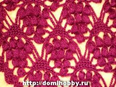 Beautiful crochet lace stitch with chart and how-to tutorial photos. Crochet Motifs, Crochet Diagram, Crochet Stitches Patterns, Crochet Chart, Knitting Stitches, Crochet Designs, Knitting Patterns, Crochet Flowers, Crochet Lace