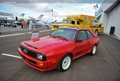 1984 Audi Sport Quattro -- the shortened Quattro developed for Group B rally racing.