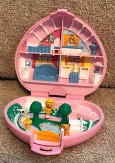 "pollyfan fucks-100 06"" Vintage POLLY POCKET Polly's Country Cottage 100% COMPLETE 1989 Pink Compact"
